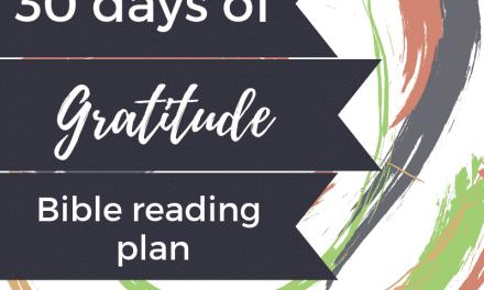 30 Days of Gratitude Daily Bible Reading Plan