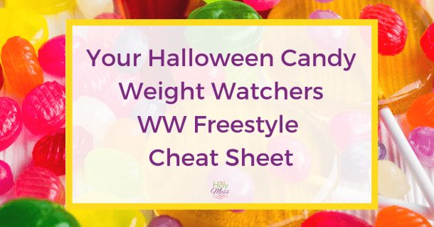 Halloween Candy Weight Watchers WW Freestyle Cheat Sheet