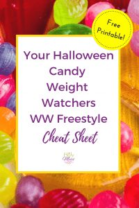Halloween Candy Weight Watchers WW Freestyle Cheat Sheet #halloween #candy #weightwatchers #freestyle