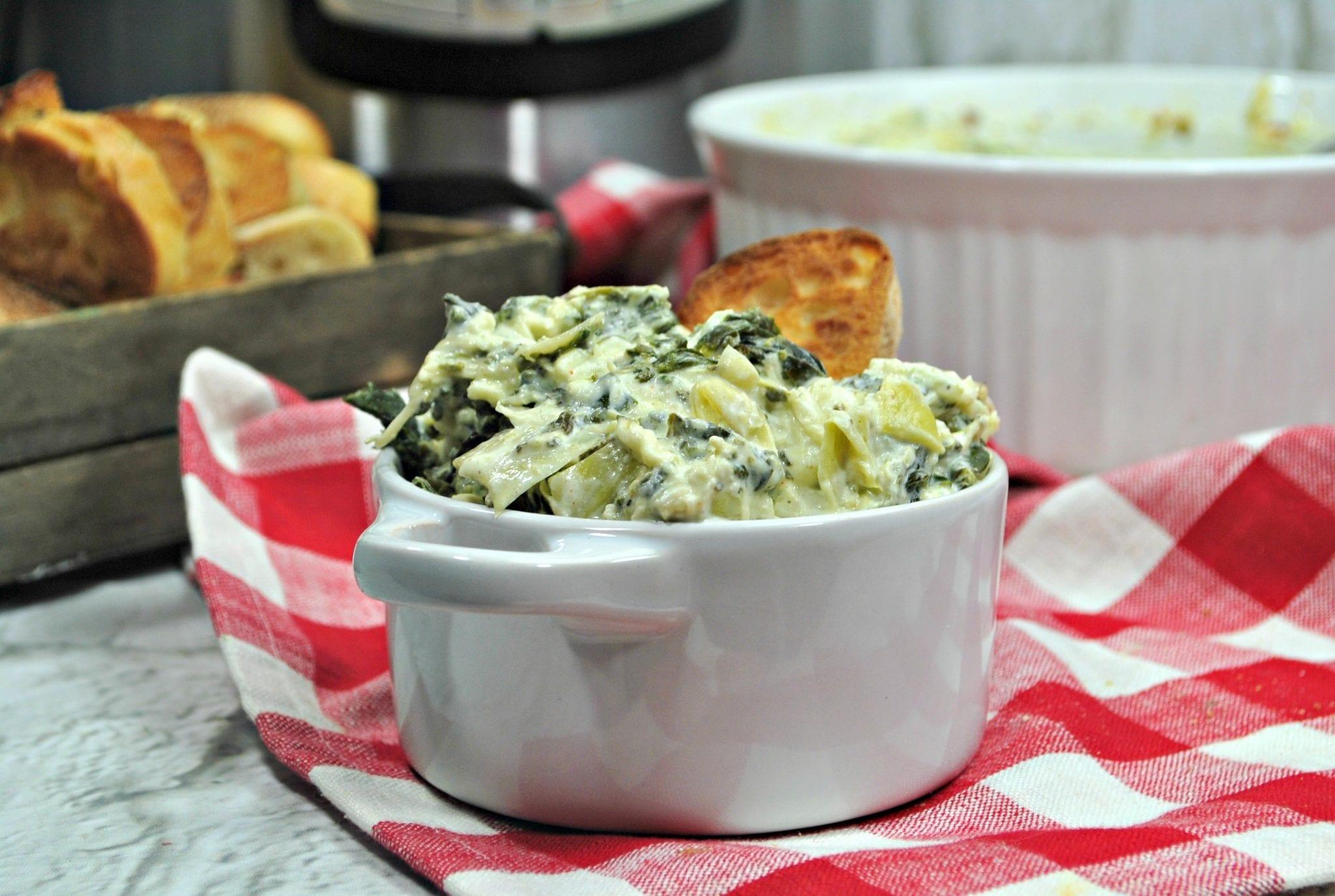 Instant Pot Spinach Artichoke Dip recipe - enjoy.