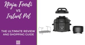 Ninja Foodi vs Instant Pot - a photo of the Ninja Foodi instant pot with baske