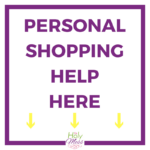 Personal Shopping for Black Friday and Cyber Monday