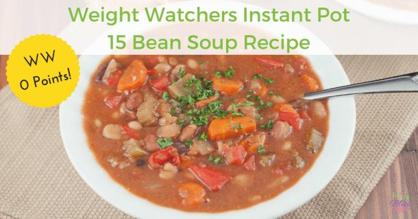 Weight Watchers Soup Recipe: Instant Pot WW 0 Point Bean Soup