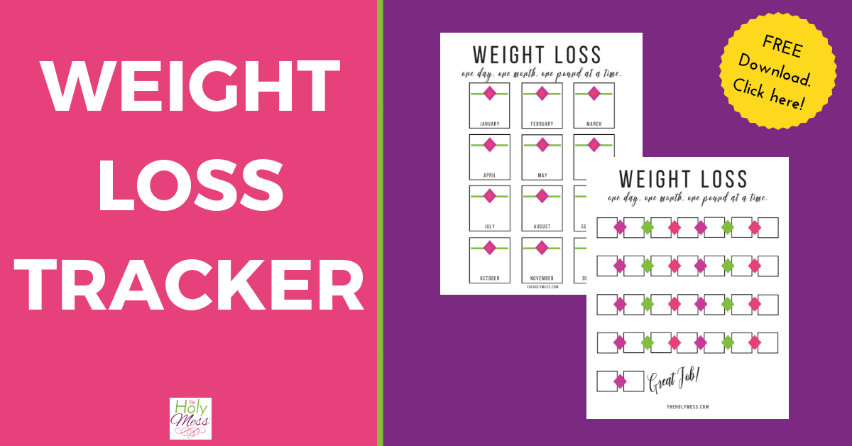 image about Weight Loss Tracker Printable titled Absolutely free Printable Excess weight Decline Tracker The Holy Mess