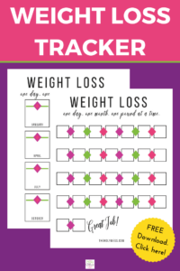 Free Printable Weight Loss Tracker The Holy Mess