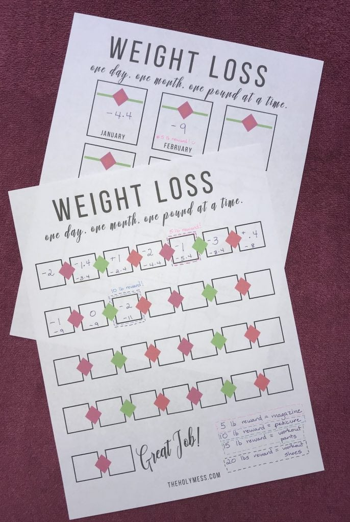 picture about Printable Weight Loss Calendars named Absolutely free Printable Bodyweight Decline Tracker The Holy Mess