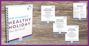 WW Freestyle Healthy Holiday Cheat Sheet Bundle