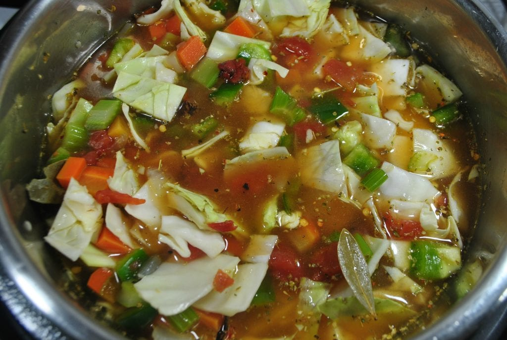 Weight Watchers Instant Pot Vegetable soup before cooking.
