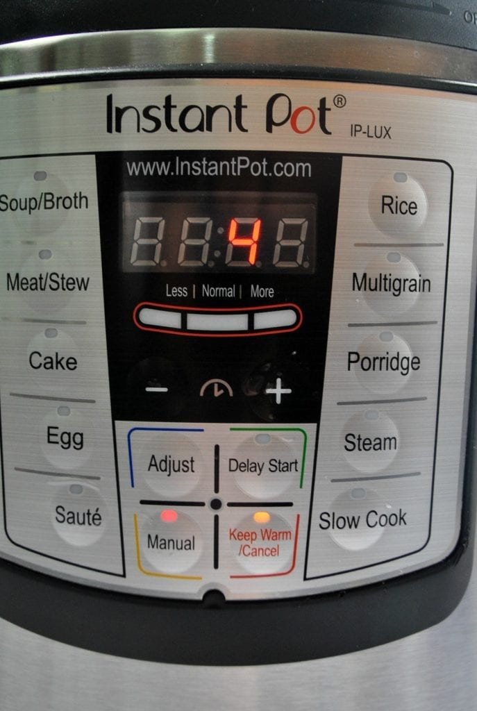 Weight Watchers cabbage soup recipe cooking in Instant Pot