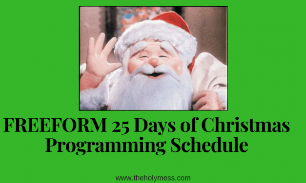 Freeform 25 Days of Christmas Programming Schedule