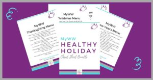 MyWW Christmas and Thanksgiving Menu Printables