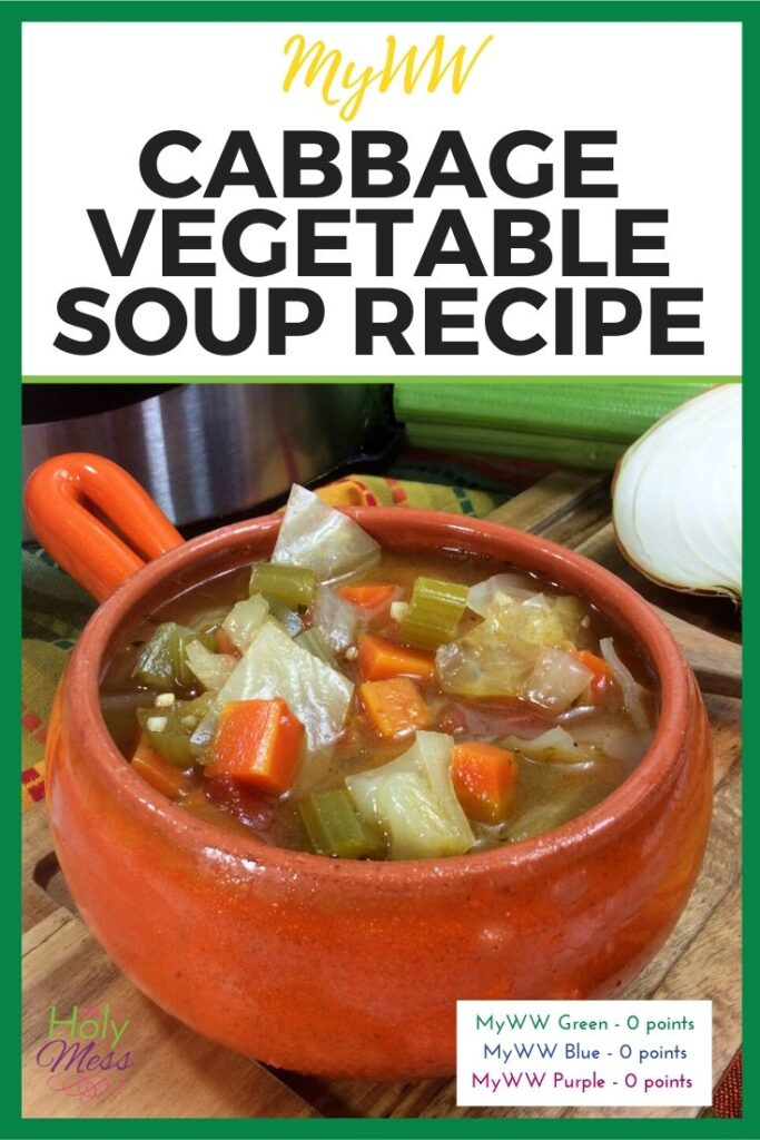 MyWW Cabbage Vegetable Soup Recipe, Zero Point Vegetable Soup Recipe