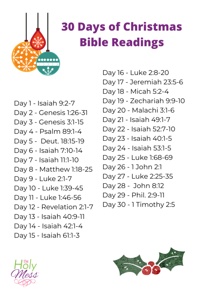 30 Days of Christmas Bible Readings, christmas bible verses