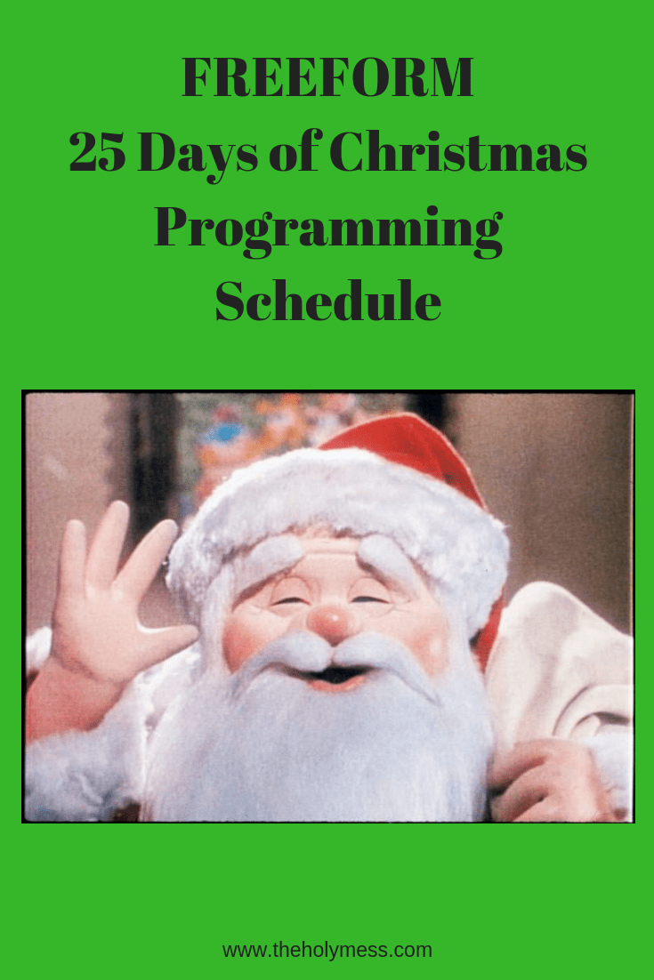 Freeform Christmas Schedule.Freeform 25 Days Of Christmas Programming Schedule 2018 The
