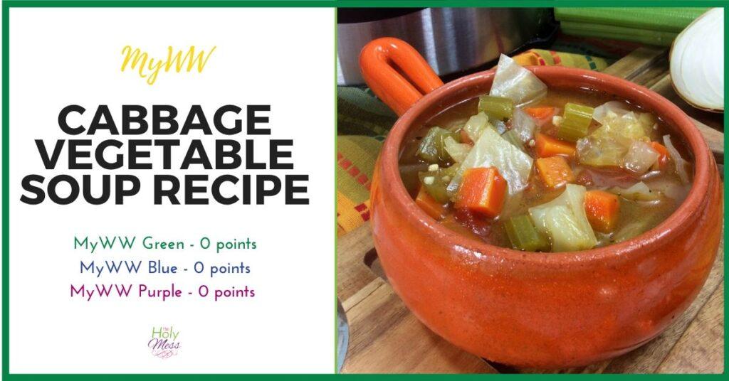 MyWW Instant Pot Vegetable Soup Recipe Zero Points