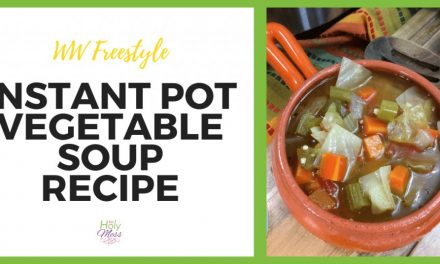 WW Freestyle Instant Pot Vegetable Soup Recipe