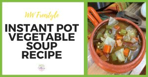 WW Freestyle Weight Watchers Instant Pot Vegetable Soup Recipe