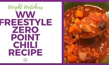 WW Freestyle Zero Point Chili Recipe