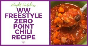 Weight Watchers Zero Point Chili Recipe