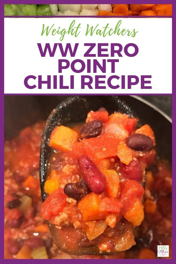 WW Zero Point Chili Recipe via @foodhussy