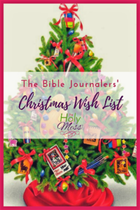 The Holy Mess Bible Journalers' Christmas Wish List #biblejournaling #illustratedfaith