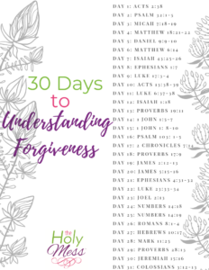 30 Days to Forgiveness Bible Reading Plan