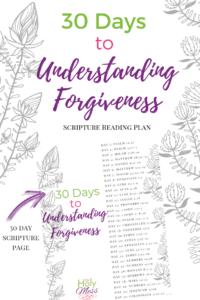 30 Days of Forgiveness Bible Reading Plan
