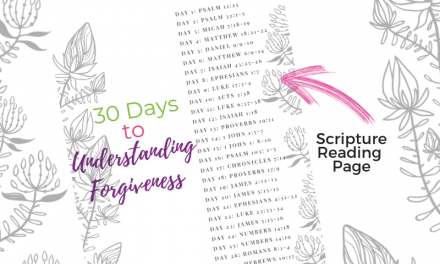 Bible Verses about Forgiveness – 30 Day Bible Reading Plan
