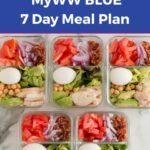 WW 7 Day Basic Meal Plan Blue