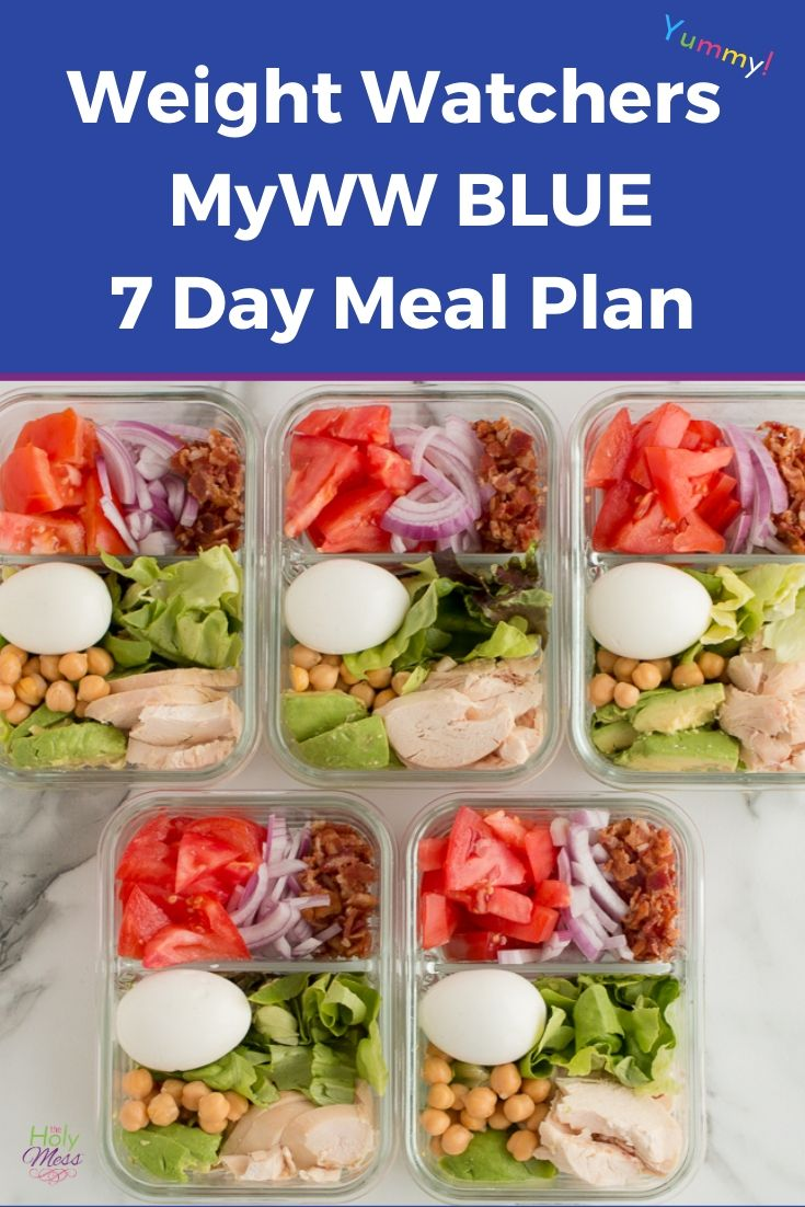 WW 7 Day Basic Meal Plan Blue