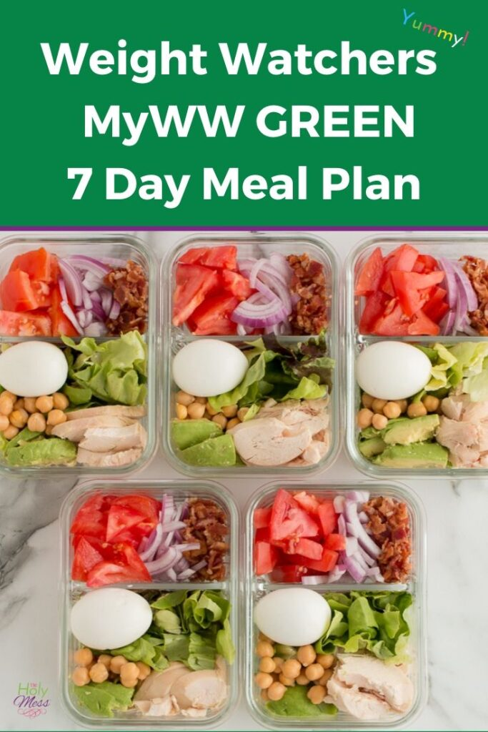 WW 7 Day Basic Meal Plan Green