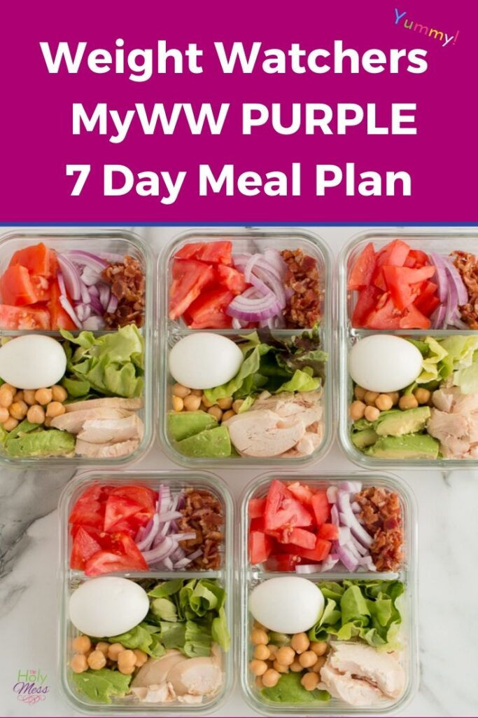 WW 7 Day Meal Plan Purple