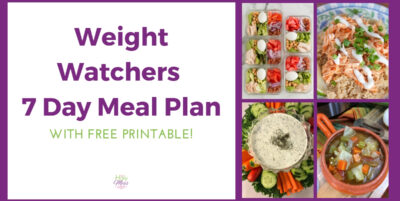 Weight Watchers 7 Day Meal Plan Freestyle Basic with Printable