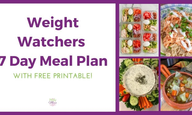 Weight Watchers 7 Day Meal Plan: Basic MyWW Green, Blue, Purple