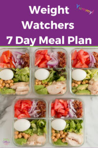Weight Watchers 7 Day Meal Plan #weightwatchers #mealplan