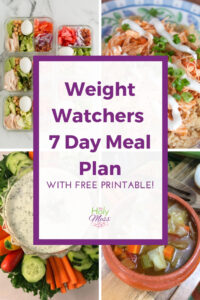 Weight Watchers 7 Day Meal Plan #ww #printable