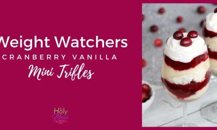 Weight Watchers Cranberry Vanilla Mini Trifles