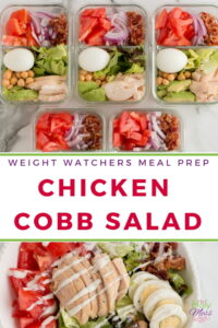 Weight Watchers Meal Prep Chicken Cobb Salad
