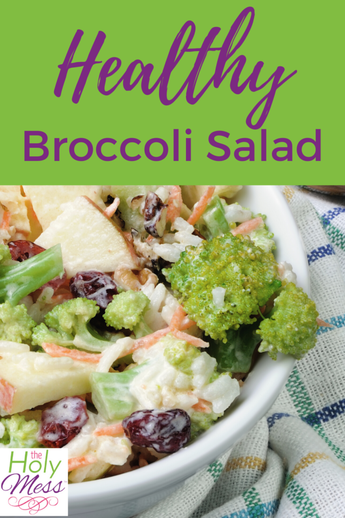 light broccoli salad