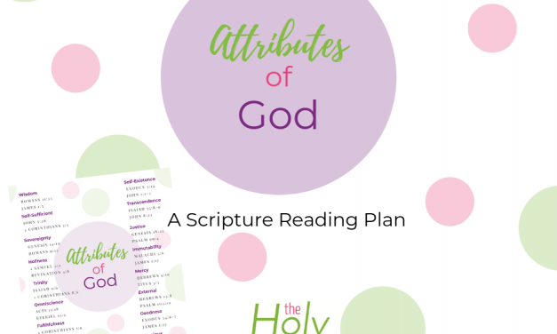 30 Day Attributes of God Bible Reading Plan