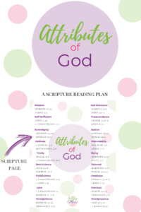 Attributes of God Bible Study