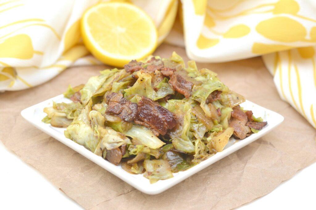 Keto bacon cabbage skillet low carb