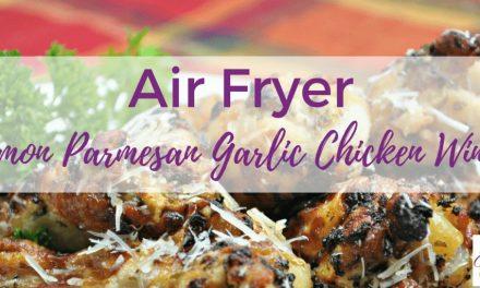 Air Fryer Lemon Parmesan Garlic Chicken Wings Recipe