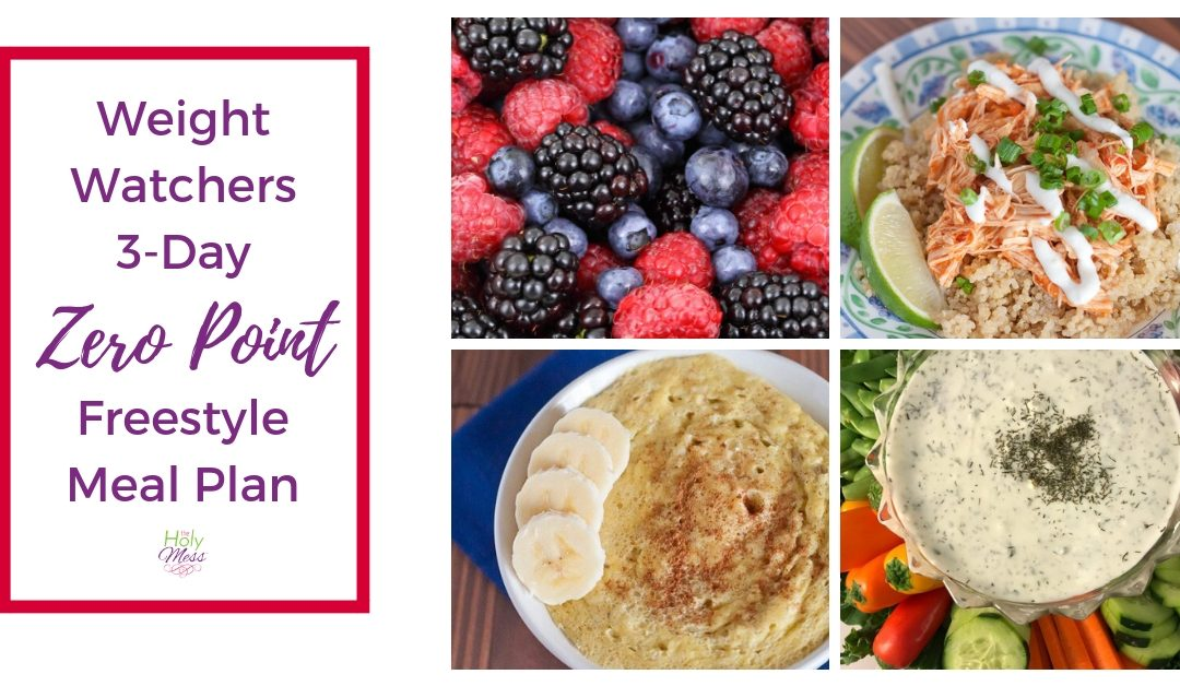 Weight Watchers 3-Day Zero Point Meal Plan