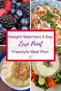 Weight Watchers Zero Point Freestyle Meal Plan