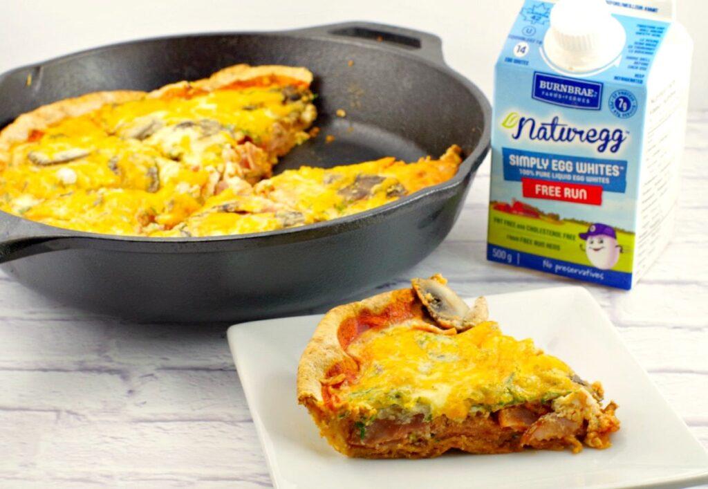 Egg white breakfast pizza