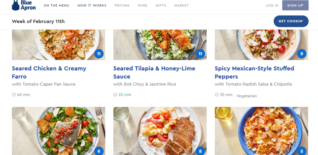 Choose your WW meals on the Blue Apron website or all. Points are listed for each meal.