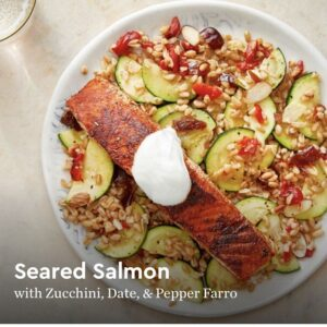 Blue Apron + WW meal - seared salmon was my favorite.