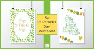 Free St Patrick's Day Printables to download
