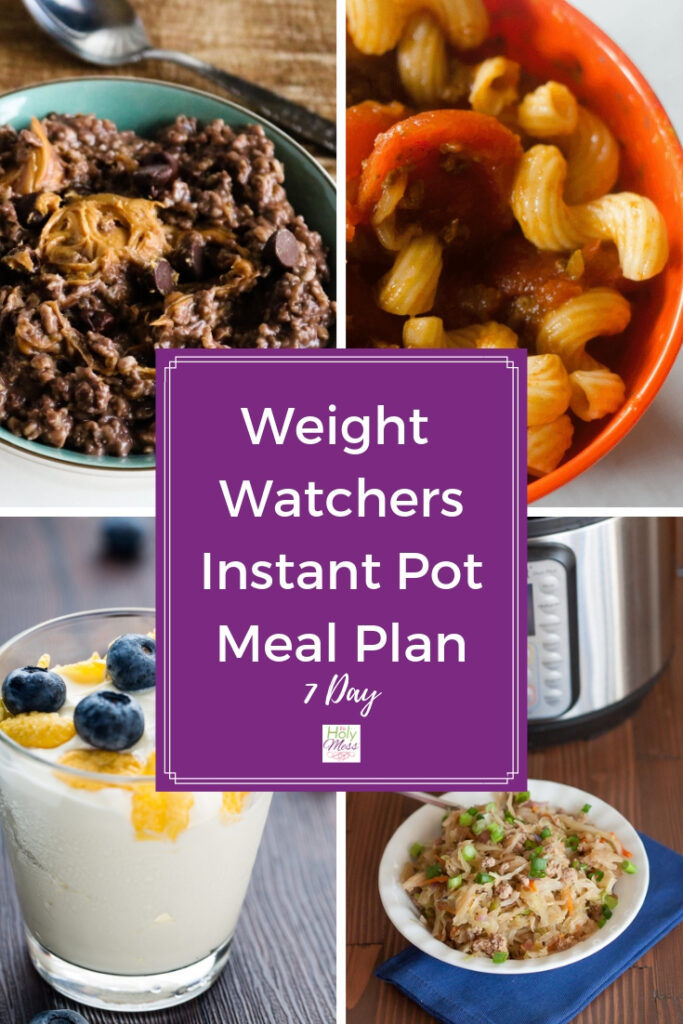 Free WW Freestyle meal plan for Instant Pot
